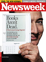 Cover of Newsweek featuring Jeff Bezos with an Amazon Kindle